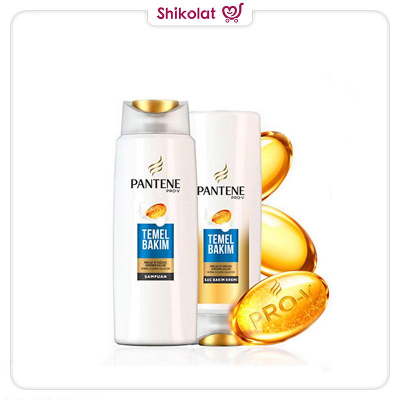 شامپو پنتن 2در1 مخصوص موهای معمولی مدل Temel Bakim حجم 500 میل Pantene Shampoo For Normal Hair