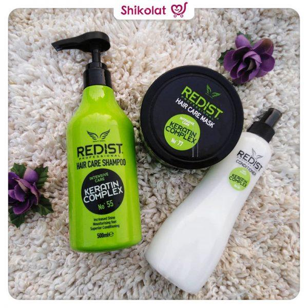 شامپو کراتین کمپلکس ردیست رنگ سبز حجم 1000 میلی لیتر Redist Keratin Complex Hair Care Shampoo