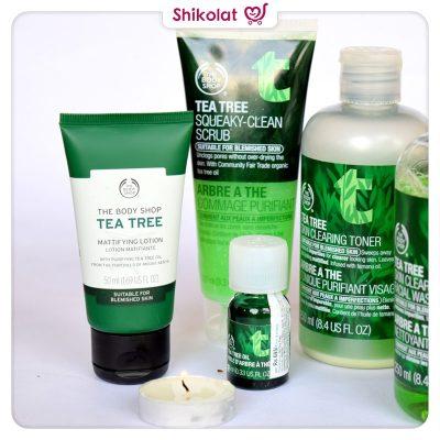 لوسیون ماتکننده تی تری بادی شاپ حجم 50 میل حاوی روغن درخت چای The Body Shop Tea Tree Mattifying Lotion