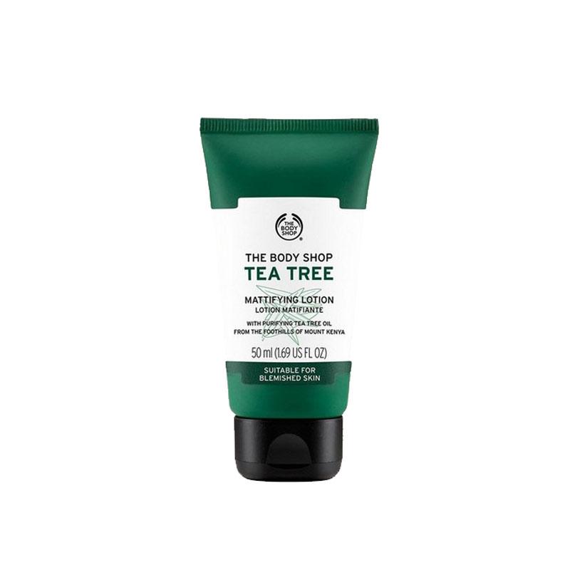 لوسیون مات کننده تی تری بادی شاپ حجم 50 میل حاوی روغن درخت چای The Body Shop Tea Tree Mattifying Lotion