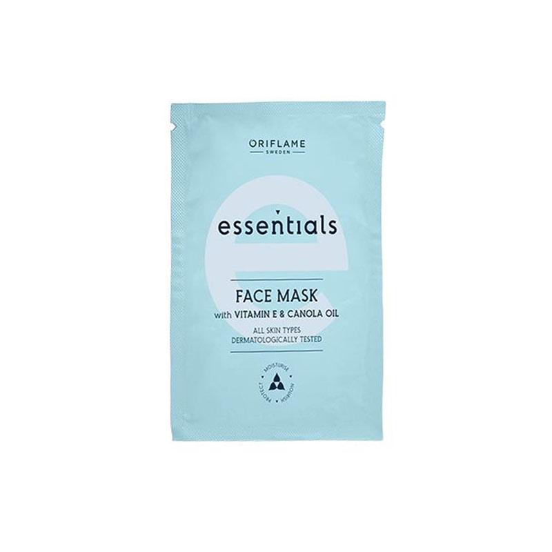 ماسک صورت اسنشیالز اوریفلیم با ویتامین E و روغن کانولا حجم 10 میل Essentials Face Mask With Vitamin E & Canola Oil Oriflame