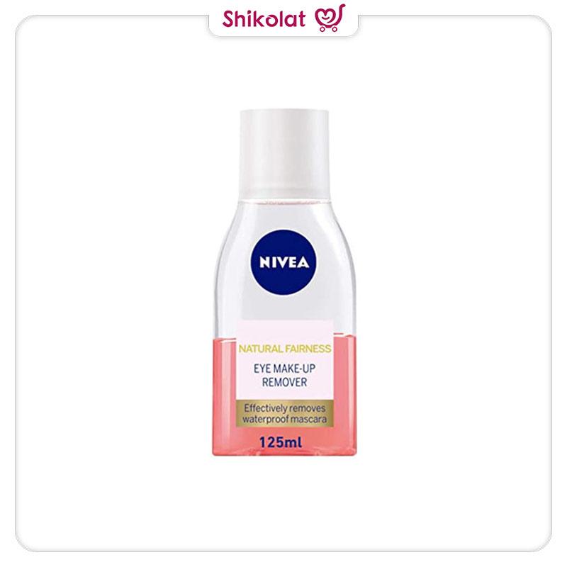 محلول پاک کننده آرایش چشم حساس نیوآ (به همراه پد آرایش پاک کن) Nivea Sensitive Eye Makeup Remover