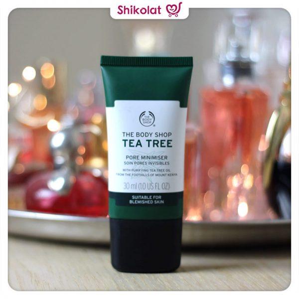 پرایمر کوچک کننده منافذ تی تری بادی شاپ حجم 30 میل The Body Shop Tea Tree Pore Minimiser