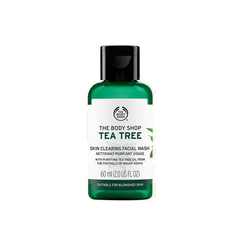 ژل شستشوی صورت تی تری بادی شاپ حاوی عصاره درخت چای حجم 60 میل The Body Shop Tea Tree Skin Clearing Facial Wash 60ML