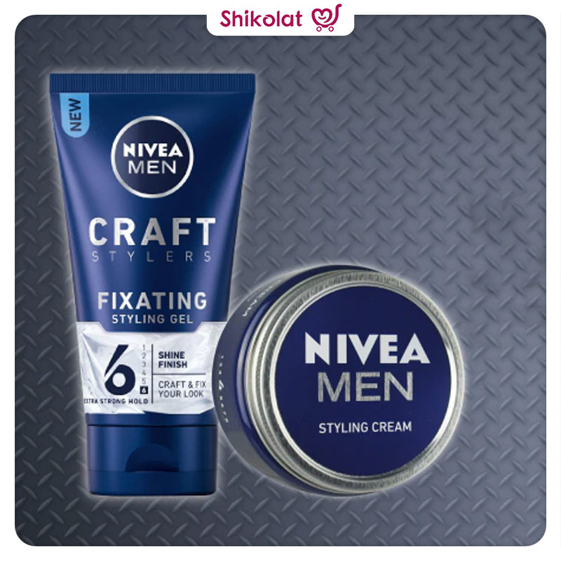 ژل مو کرافت استایلر نیوآ شماره 6 حجم 150 میلی لیتر Nivea Men Craft Stylers Fixating Styling Gel with Shine Finish