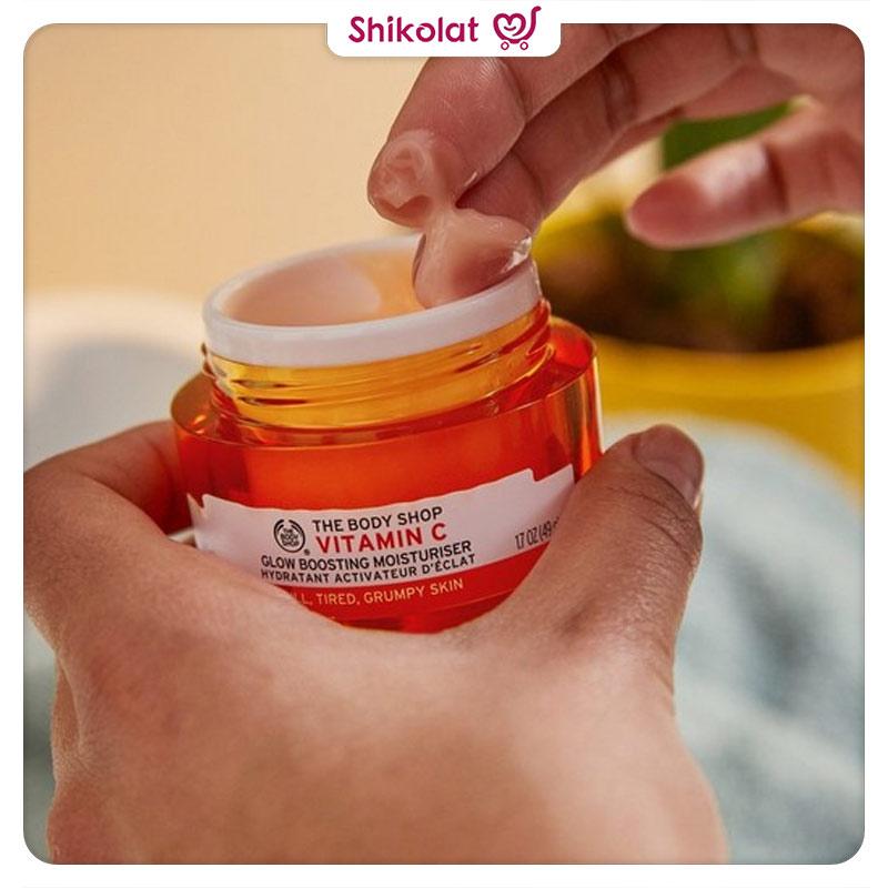کرم آبرسان تقویت کننده ویتامین سی بادی شاپ حجم 50 میل The Body Shop Vitamin C Glow Boosting Moisturiser