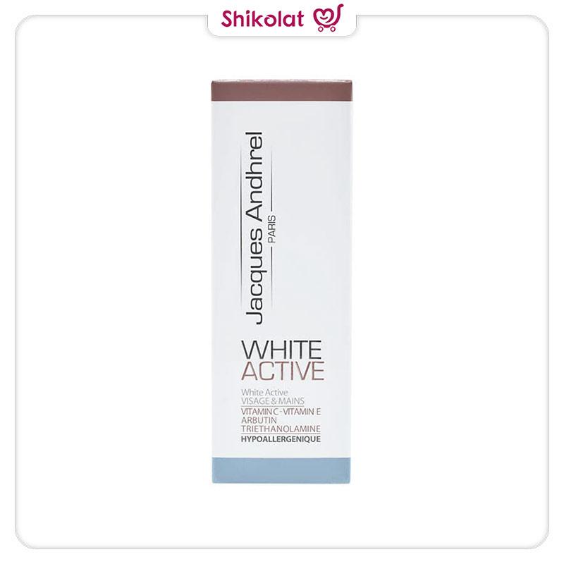 کرم ضدلک و روشن کننده وایت اکتیو ژاک آندرل پاریس حجم 30 میل Jacques Andhrel Paris White Active Cream