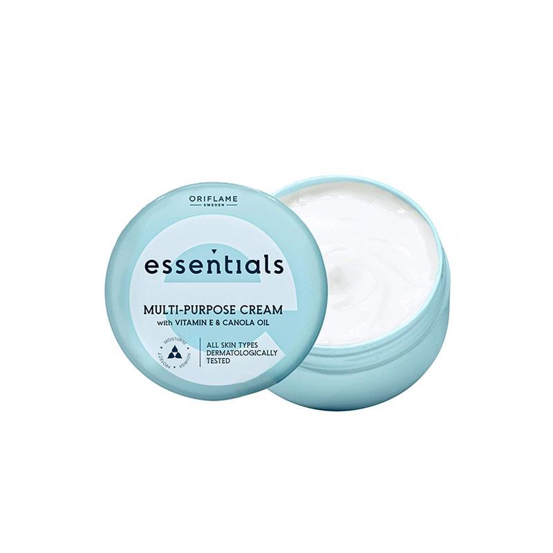 کرم چندمنظوره اسنشیالز اوریفلیم حاوی ویتامین E و روغن کانولا حجم 150 میل Essentials Multi-purpose Cream With Vitamin E & Canola Oil Oriflame