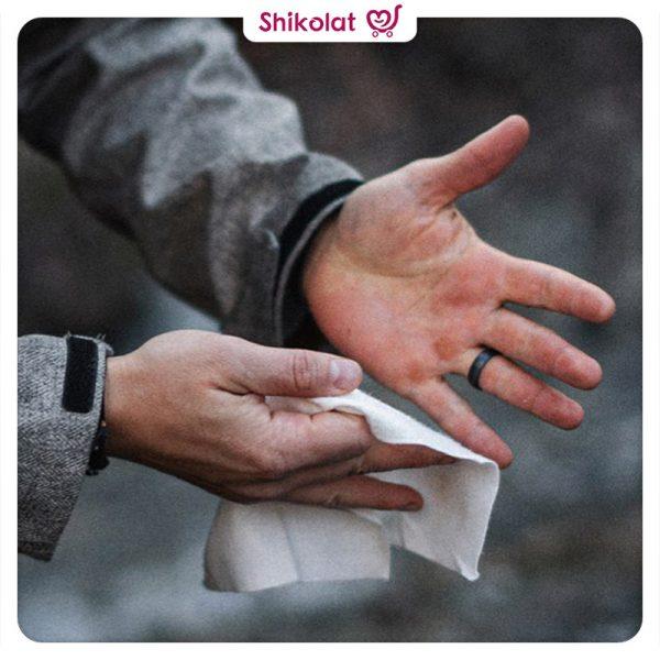 دستمال مرطوب بیول مخصوص آقایان آنتی باکتریال و نرم کننده دست و صورت Biol Face And Hand Cleansing Wipes For Men