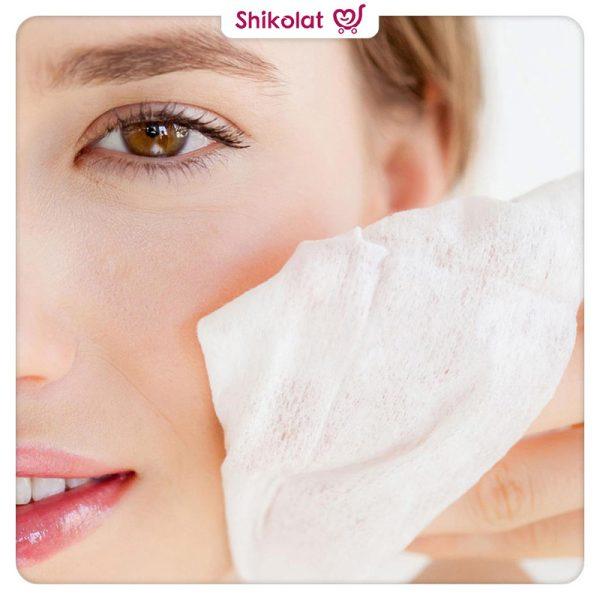 دستمال مرطوب پاک کننده و روشن کننده دست و صورت بیول Biol Brightness Face And Hand Cleansing Wipes