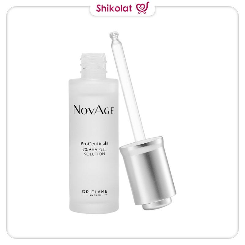 سرم لایه بردار پروسیتکالز نوایج اوریفلیم حجم 30 میل حاوی 6% آلفاهیدروکسی اسید Novage Proceuticals 6% Aha Peel Solution Oriflame