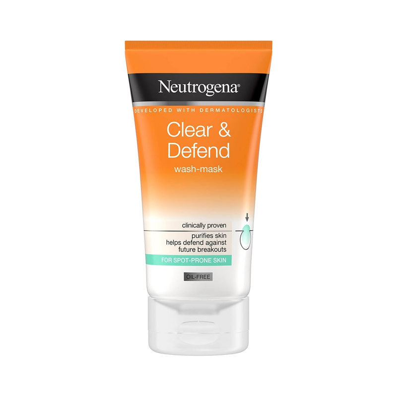 شوینده و ماسک صورت دوکاره ضد جوش نوتروژینا حجم 150 میل Neutrogena Visibly Clear Spot Proofing 2-in-1 Wash Mask