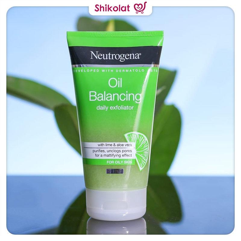 ژل لایه بردار کنترل کننده چربی حاوی عصاره لیمو نوتروژینا حجم 150 میل Neutrogena Oil Balancing Daily Exfoliator