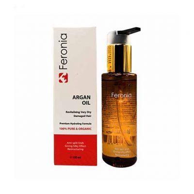 روغن مو آرگان و کراتین فرونیا حجم 100میلی لیتر Feronia Argan Oil