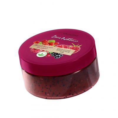 اسکراب بدن فارست بری لاونیچر اوریفلیم LOVE NATURE Forest Berries Delight Exfoliating Body Scrub Jam Oriflame